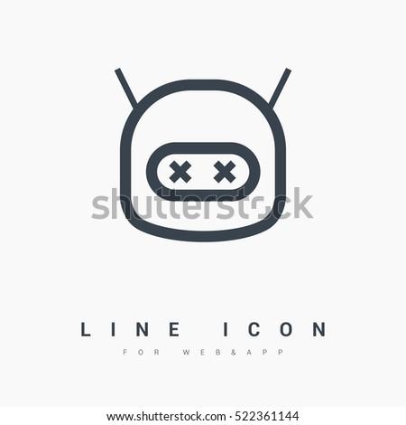 robot isolated minimal icon