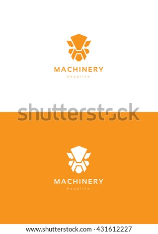 robot machinery logo template