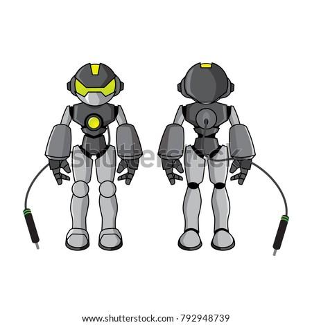 robot mascot for digital company