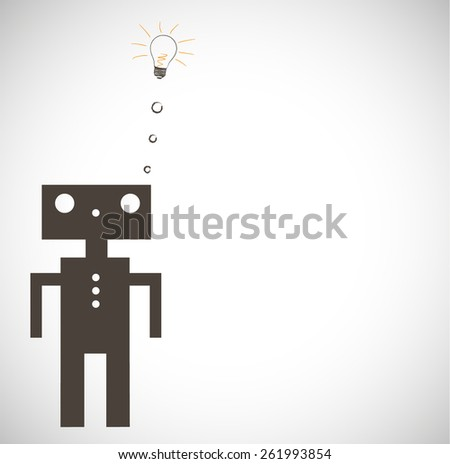robot on grey background