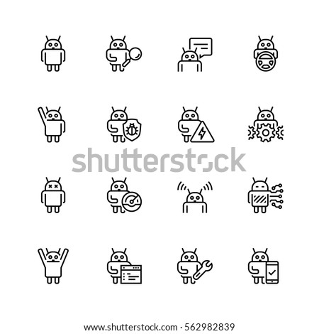 robot or bot related vector