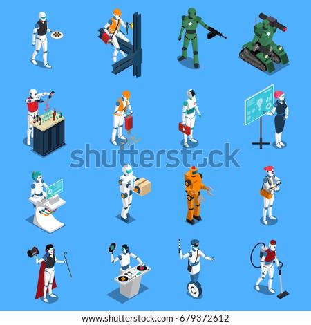 robot professions isometric