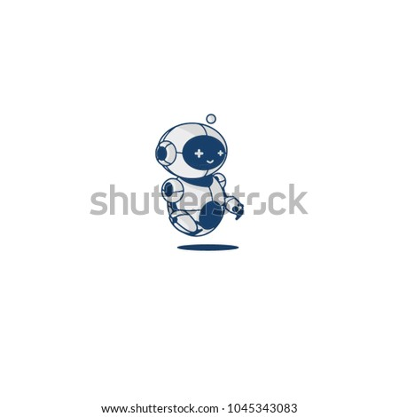 Robot set. Robot character, mascot illustration