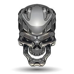 Robot skull illustration