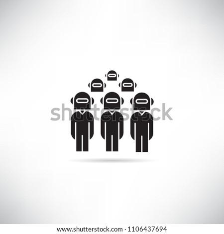 robot team work icon