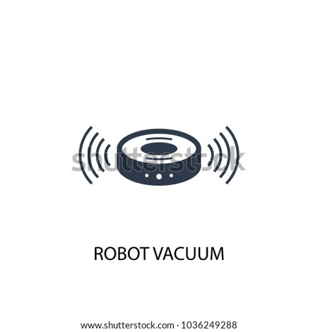 robot vacuum icon. Simple element illustration. robot vacuum symbol design from Smart home collection. Can be used for web and mobile.