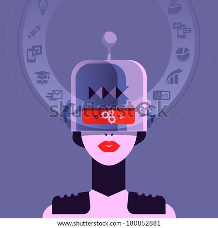 robot vector format