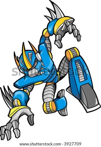 Robot Vector Illustration - stock vector