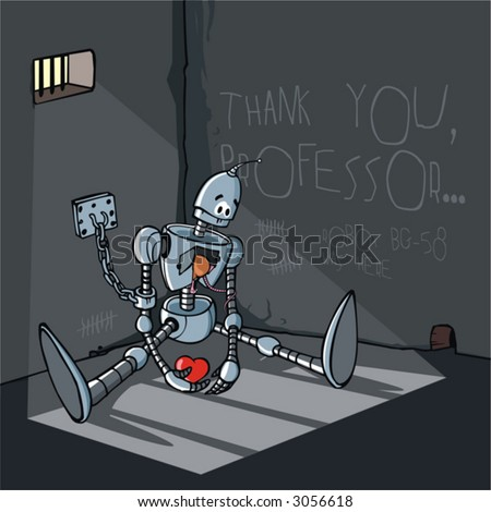 robot, vector, machine, cartoon, technology, men, painting, car, industry, engineering, sign, line, illustration