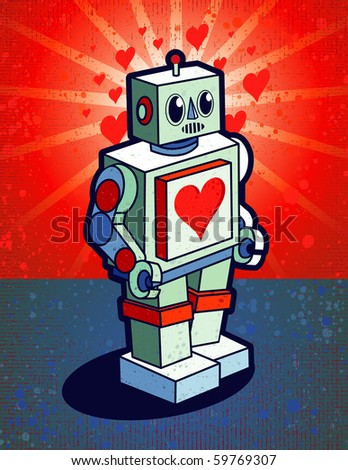 Robot With Heart On Chest