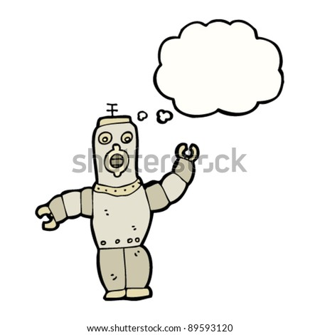 robot with thought bubble