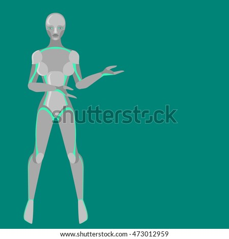 robot woman  female cyborg