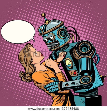 robot woman love computer