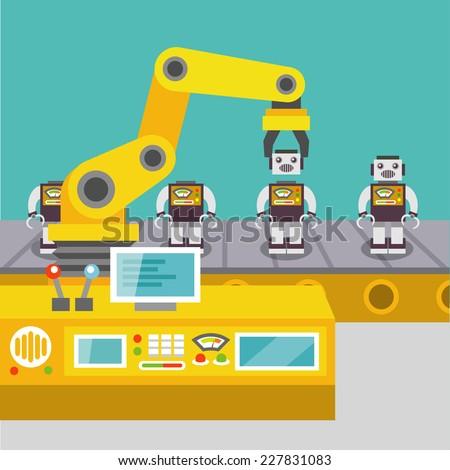 robotic arm assemble line