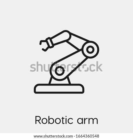 robotic arm icon vector linear