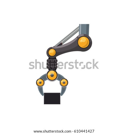 robotic arm technology icon
