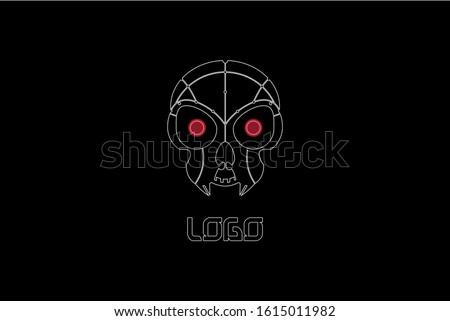 robotic predator alien face