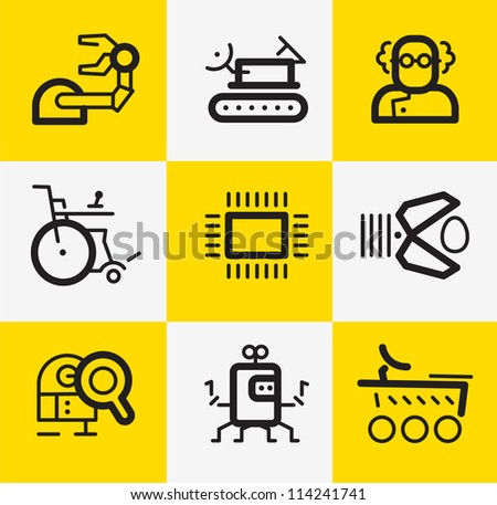 robotic research icons