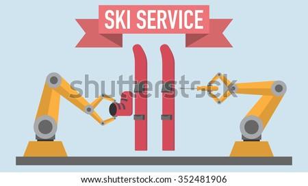 robotics arms ski service