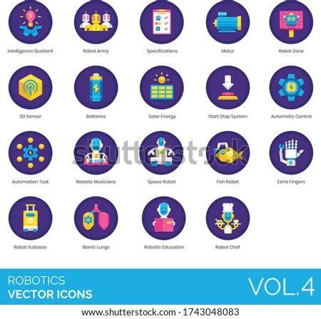 robotics icons including