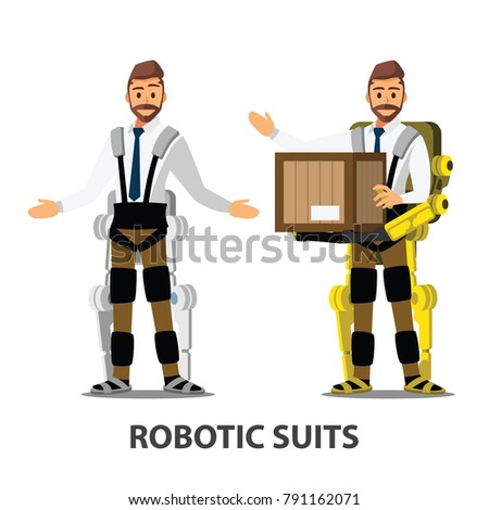 robotics suit character , vector