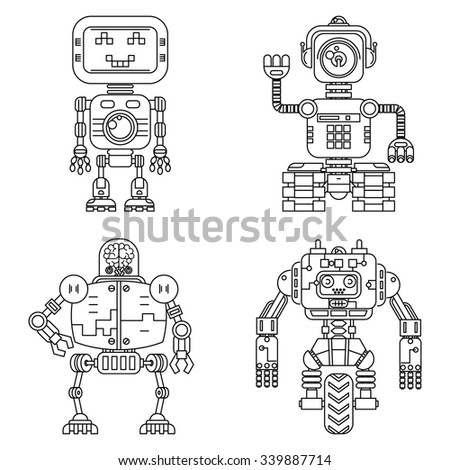 robots linear style set toy