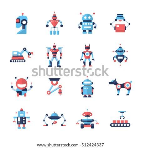 robots   set of modern vector
