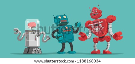 Robots. Vector illustration.