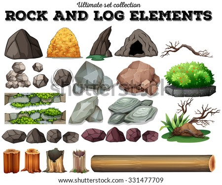 rock and log elements