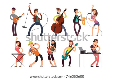 rock and pop musicians vector