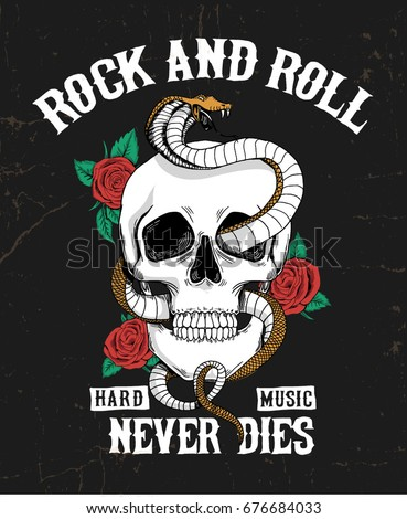 rock and roll graphic design