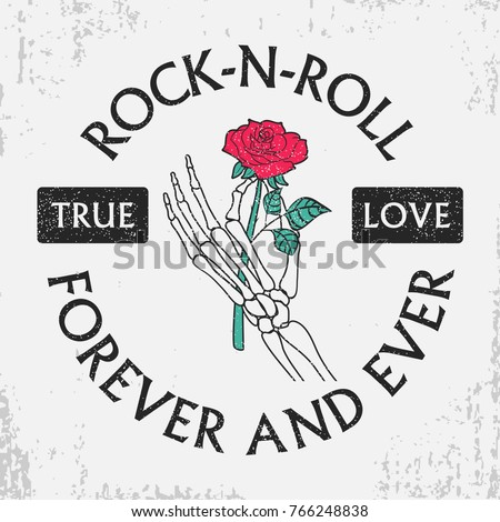 rock and roll grunge typography