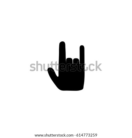 rock and roll hand sign icon