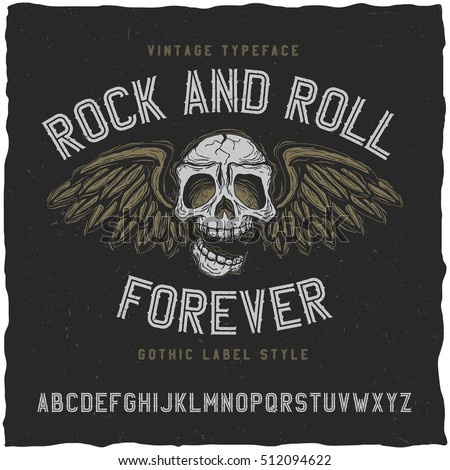 rock and roll label font good