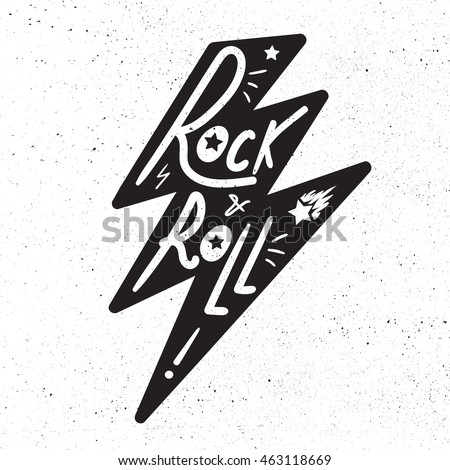 rock and roll lettering for t