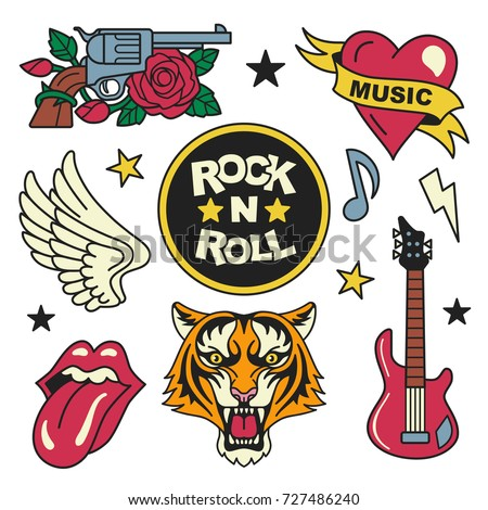 rock and roll patches...