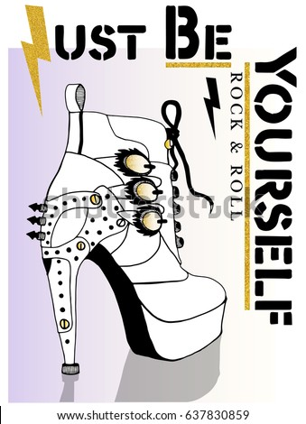 rock and roll shoes graphic