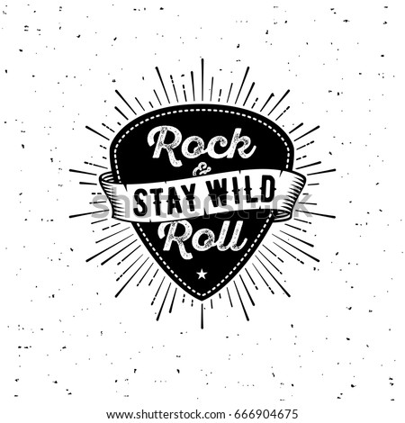 rock and roll sign stay wild