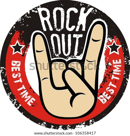 Rock and roll sign vector - stock vector