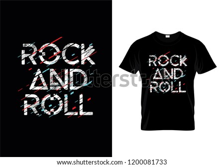 Rock And Roll T-Shirt Design Template