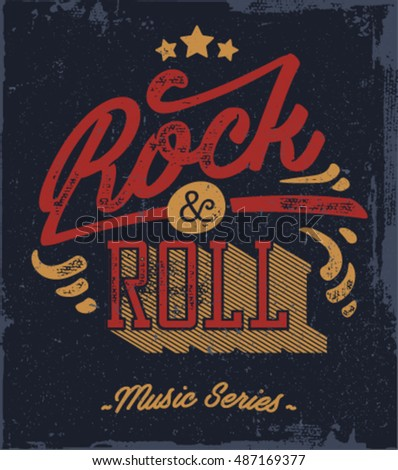 royalty free vintage rock and roll typographic for t 293853689