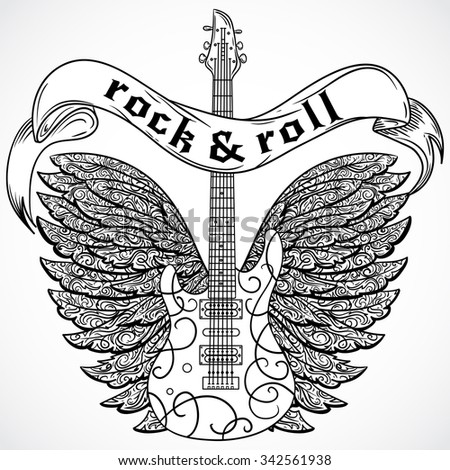 Create Context Diagram In Visio as well Stock Vector Rock And Roll Vintage Poster With Electric Guitar Ornate Wings And Ribbon Banner Retro Vector as well Class 30 Watt Power  lifier Circuit further Power  lifier Use S 3048a For Driver moreover  on guitar wiring diagram editor