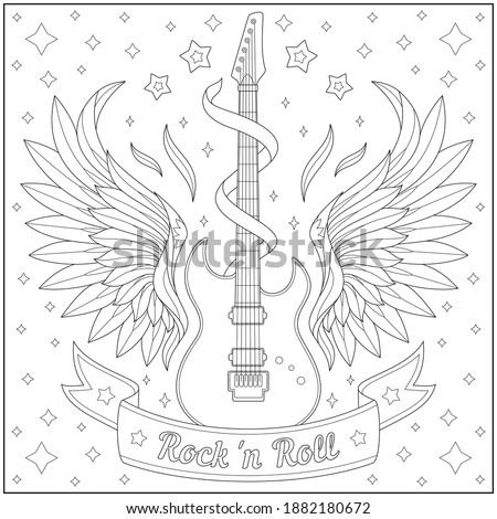 Rock Star Coloring Pages At Getdrawings Free Download