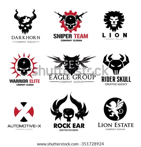 rock and skull logo collection
