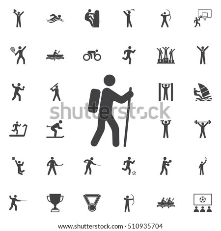Rock climber icon illustration on the white background. Sport icons universal set for web and mobile
