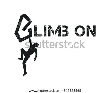 rock climber vector