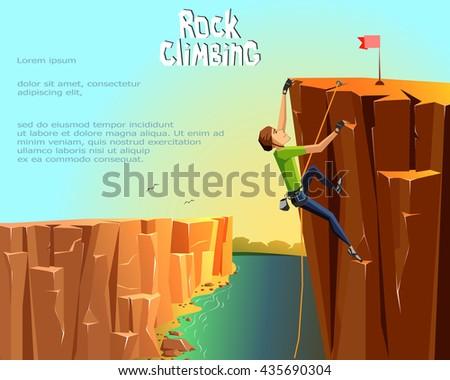 rock climbing boy beautiful