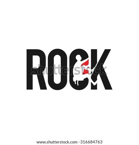 rock climbing logo vector