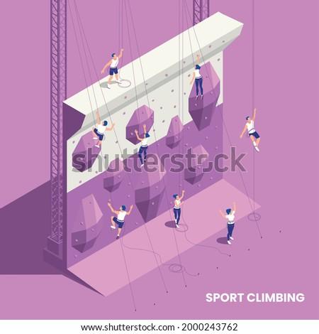 rock climbing sport indoor gym