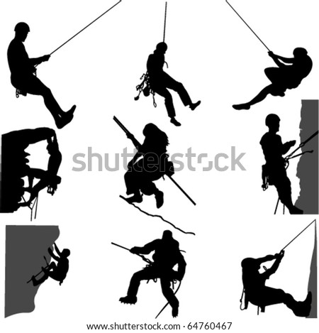 rock climbing 1   vector